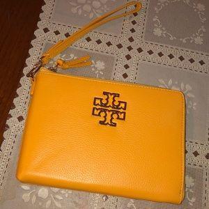 Tory Burch yellow clutch